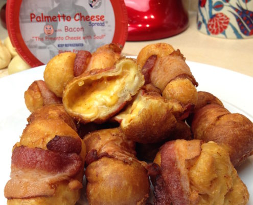 Palmetto Pimento Cheese Bacon wrapped cheeseballs