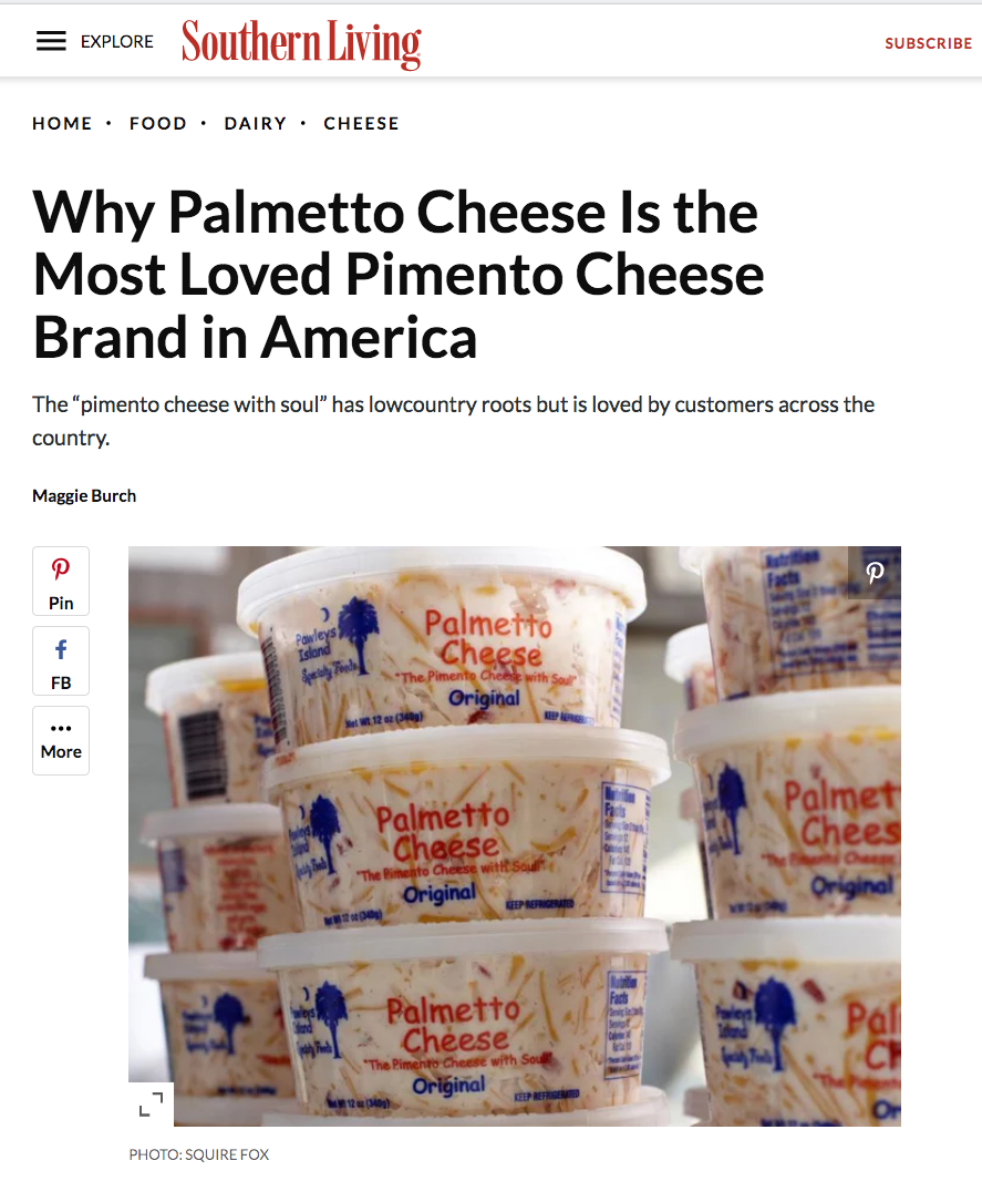 Palmetto Cheese Southern Living