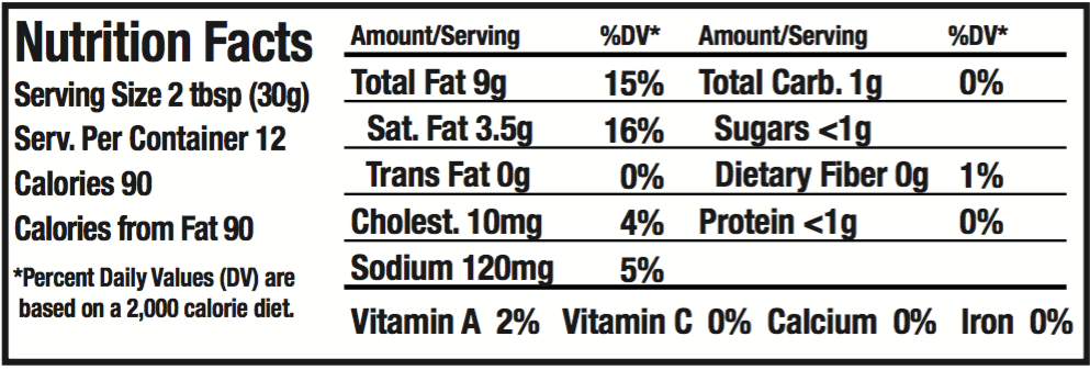 OMG! Onion Dip Nutritional Info