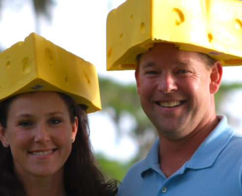 cheese heads Brian and Sassy Henry Palmetto Cheese