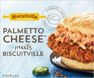 Palmetto Cheese at Biscuitville Spicy Chicken Jalapeno Pimento Cheese Biscuit
