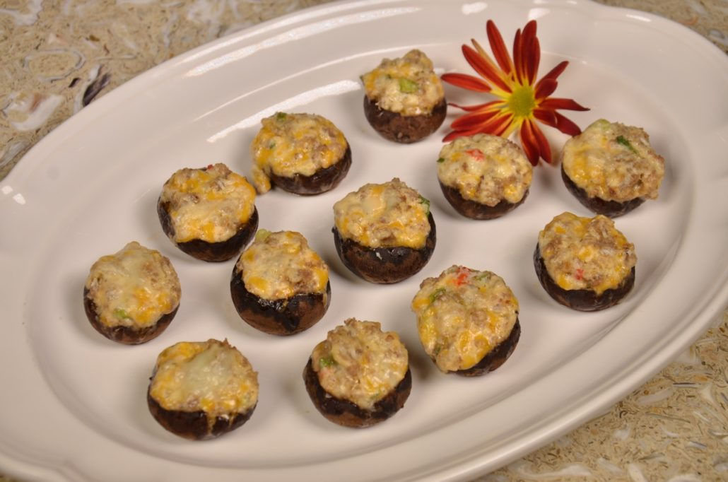 Palmetto Cheese Sausage Mushrooms