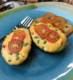 Avocados topped with Palmetto Cheese