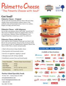 Palmetto Cheese Info Sheet