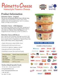 Palmetto Cheese Info Sheet